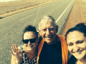 Mike with Sandra & Jamie on the road to Karratha