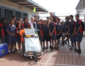 Mike at Clontarf College in Broome